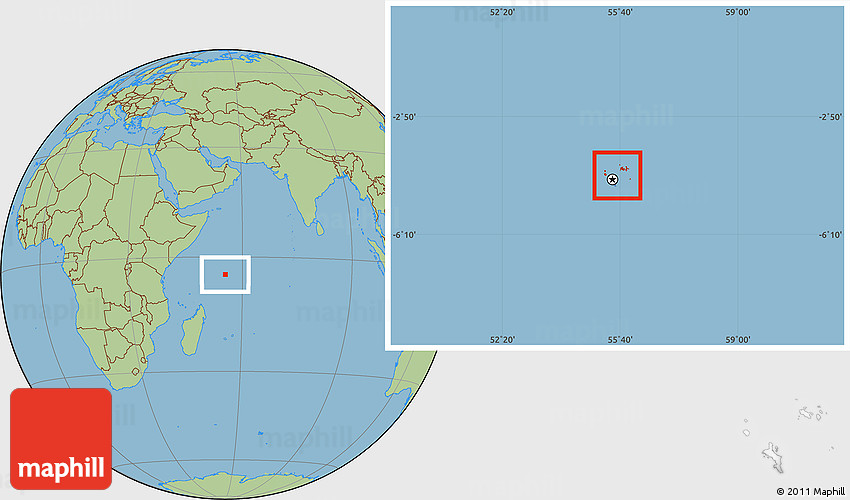 Savanna Style Location Map of Seychelles