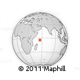 Outline Map of Seychelles