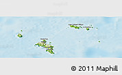 Physical Panoramic Map of Seychelles