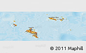 Political Shades Panoramic Map of Seychelles