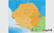Political Shades 3D Map of Sierra Leone