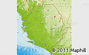 Physical Map of Sierra Leone