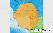 Political Shades Map of Sierra Leone