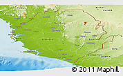 Physical Panoramic Map of Sierra Leone