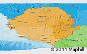 Political Shades Panoramic Map of Sierra Leone