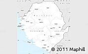 Silver Style Simple Map of Sierra Leone