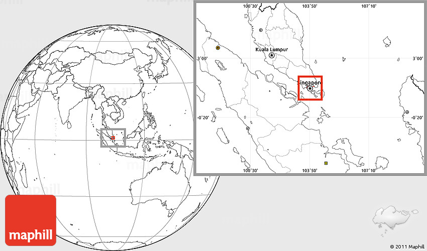 Flag location map of singapore blank outside 2d publicscrutiny Images