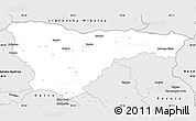 Silver Style Simple Map of Brezno