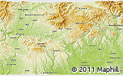 Physical 3D Map of Detva