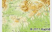 Physical Map of Detva
