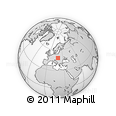 Outline Map of Detva