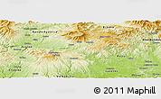 Physical Panoramic Map of Detva