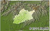 Physical 3D Map of Krupina, darken
