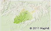 Physical 3D Map of Krupina, lighten