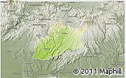Physical 3D Map of Krupina, semi-desaturated