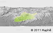 Physical Panoramic Map of Krupina, desaturated