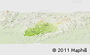 Physical Panoramic Map of Krupina, lighten