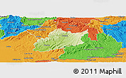 Physical Panoramic Map of Krupina, political outside