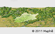 Physical Panoramic Map of Krupina, satellite outside