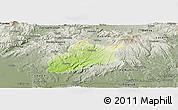 Physical Panoramic Map of Krupina, semi-desaturated