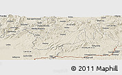 Shaded Relief Panoramic Map of Krupina