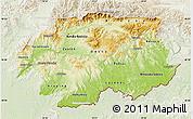 Physical Map of Banska Bystrica, lighten