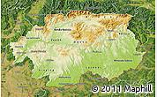 Physical Map of Banska Bystrica, satellite outside