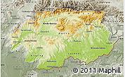 Physical Map of Banska Bystrica, semi-desaturated
