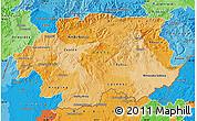 Political Shades Map of Banska Bystrica