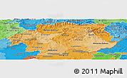 Political Shades Panoramic Map of Banska Bystrica