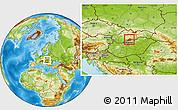 Physical Location Map of Velky Krtis