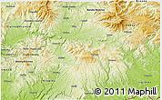 Physical 3D Map of Zvolen