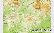 Physical Map of Zvolen
