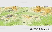 Physical Panoramic Map of Zvolen