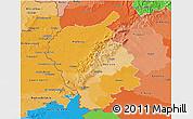 Political Shades 3D Map of Bratislava