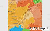 Political Shades Map of Bratislava