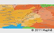 Political Shades Panoramic Map of Bratislava