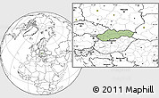 Savanna Style Location Map of Slovakia, blank outside