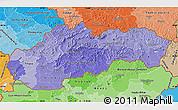 Political Shades Map of Slovakia