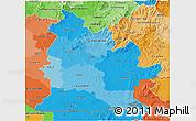 Political Shades 3D Map of Nitra