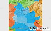 Political Shades Map of Nitra