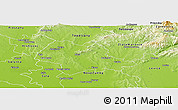 Physical Panoramic Map of Nitra