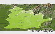 Physical Panoramic Map of Nitra, darken