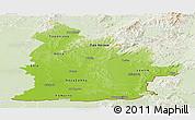 Physical Panoramic Map of Nitra, lighten