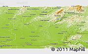 Physical Panoramic Map of Nitra
