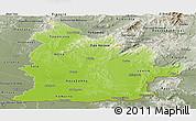 Physical Panoramic Map of Nitra, semi-desaturated
