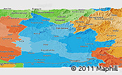 Political Shades Panoramic Map of Nitra