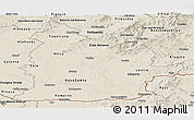 Shaded Relief Panoramic Map of Nitra