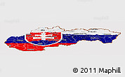 Flag Panoramic Map of Slovakia
