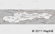 Gray Panoramic Map of Slovakia